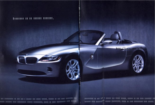 BMW Z4 advert taken from National Geographic Special magazine
